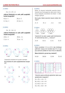 6.sınıf matematik testi-8