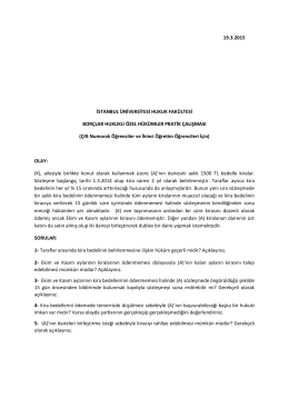 Çift Numaralı Ö - İstanbul Üniversitesi | Hukuk Fakültesi