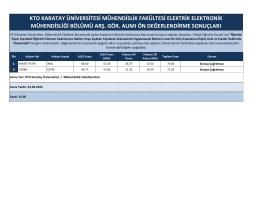 Mühendislik Fakültesi Elektrik Elektronik Mühendisliği araştırma