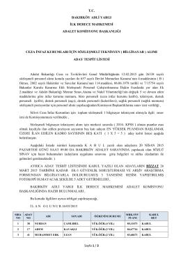 Sayfa 1 / 3 T.C. BAKIRKÖY ADLİ YARGI İLK DERECE MAHKEMESİ