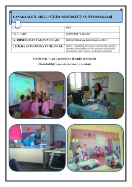 Eğitimde Teknolojiyi Kullan Başarıyı Arttır Projesi