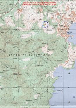 muğla ili datça ilçesi kargı deresi hafriyat sahası toprak dolgu alanı