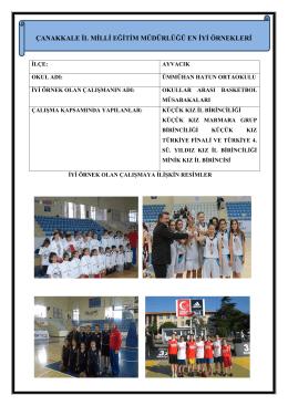 Okullar Arası Basketbol Müsabakaları Projesi