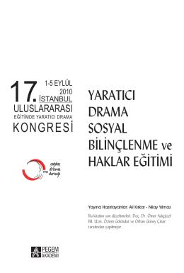 17. İstanbul Uluslararası Eğitimde Yaratıcı Drama
