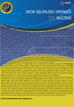 PowerPoint Sunusu - Spor Bilimleri Derneği