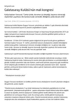 Galatasaray Kulübü`nün mali kongresi