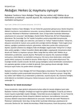 Akdoğan: Herkes üç maymunu oynuyor