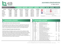 Forex günlük bülten - ALB Menkul Değerler