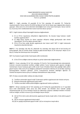 uluslararası özel hukuk ıı pratik çalışması (25.03