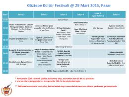 Program - Göztepe Kültür Festivali