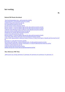 hot working pdf free - PDF eBooks Free | Page 1