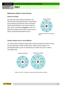 Elektronların Dizilimi ve İyon Kavramı