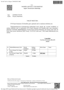 Piyasa Araştırması - Mardin Artuklu Üniversitesi
