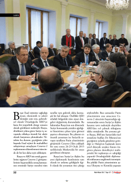 32 Beşar Esad rejimine sağladığı siyasi, ekonomik ve