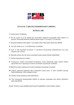 5.kokteyl yarışması kuralları