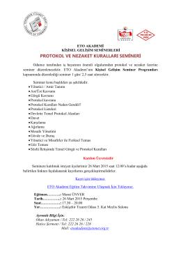 protokol ve nezaket kuralları semineri