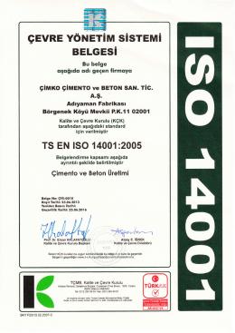 TS EN ISO 14001:2005