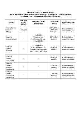 erzincan t tipi ceza infaz kurumu için alınacak sözleşmeli personel