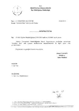 """"""" ,f )~. - mersin - mezitli ilçe millî eğitim müdürlüğü"""
