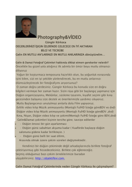 Photography&VİDEO