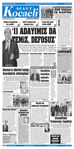 E-Gazete - Mavi Kocaeli Gazetesi