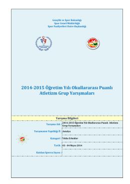 erkek sonuç - Antalya Gençlik ve Spor İl Müdürlüğü