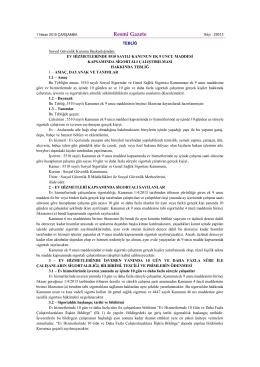 Ev Hizmetlerinde 5510 Sayılı Kanunun Ek 9 uncu