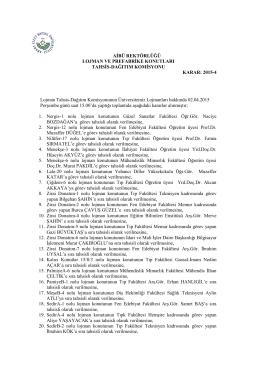 Lojman Tahsis Komisyonu Karar-2015-4