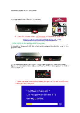 SMART G4 Modeli SD kart ile kullanımı. 1