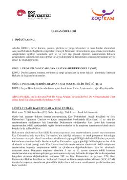 15 Mayıs 2015 - Koç Üniversitesi