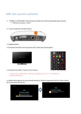 USB` den yazılım yükleme