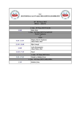 08 Nisan 2015 BOLU / ABANT