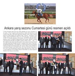 Ankara yarış sezonu Cumartesi günü resmen açıldı