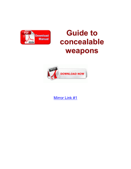 Guide to concealable weapons
