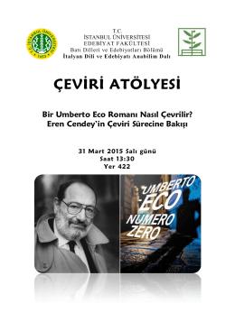 ÇEVİRİ ATÖLYESİ - Edebiyat Fakültesi