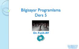 Ders 5 (01.04.2015) - Yrd.Doç.Dr.Fatih AY