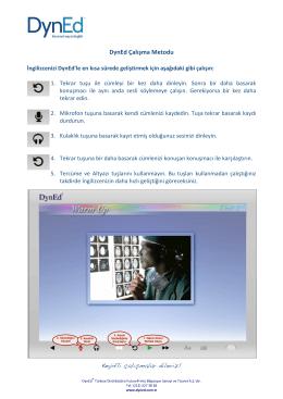 DynEd Çalışma Metodu EFS 2015