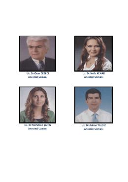Uz. Dr.Mehrica ŞAHİN A estezi Uz a ı Uz. Dr.Adnan YALDIZ A estezi