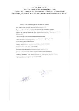 Simav Devlet Hastanesi Laboratuvar Malzemeleri 2015 PDF Formatı