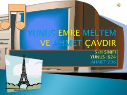 YUNUS EMRE MELTEM