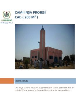 cami inşa projesi çad