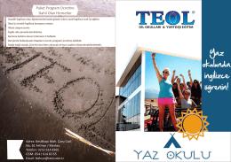 Katalog İçin Tıklayınız - Teol Yabancı Dil Okulları