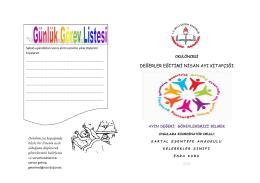 değerler eğitimi nisan ayı kitapçığı