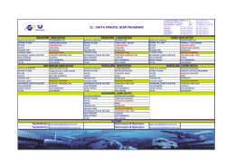 15 . hafta parsiyel gemi programı