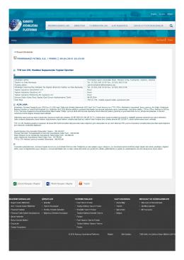 TTK`nun 376. Maddesi Kapsamında Yapılan İşlemler Excel Dosyası