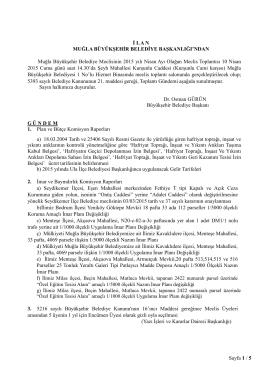 19- BAŞKAN - Muğla Belediyesi