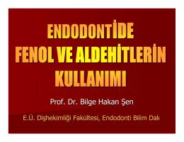 Fenol Ve Aldehitler - Türk Dişhekimleri Birliği
