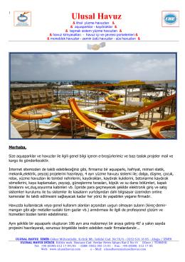 Ulusal Havuz Tanıtım Dosyası İndir