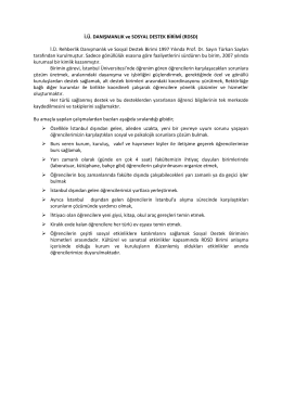 Rehberlik Tanıtım - İstanbul Üniversitesi