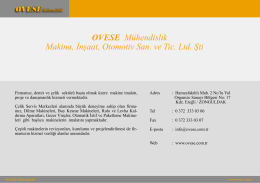 Dijital Katalog - Ovese Mühendislik
